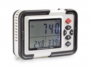 Miernik i rejestrator temperatury, wilgotności, stężenia CO2
