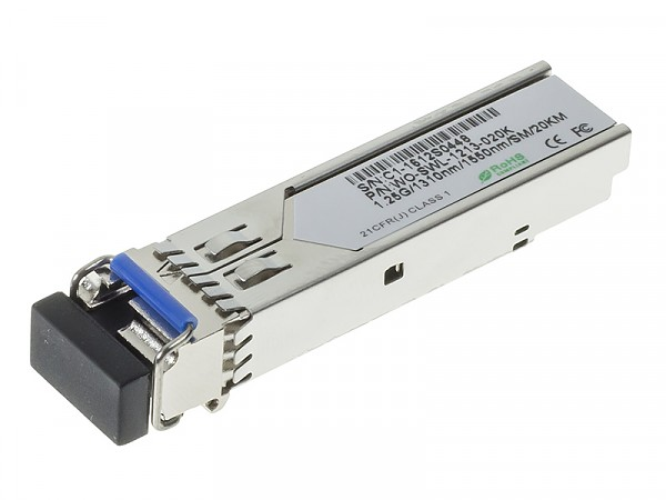 Moduł SFP 1x 1000 Mbps LC SM, 20 km, WDM TX:1310nm (Wave Optics, WO-SWL-1213-020K)
