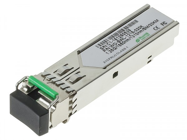 Moduł SFP 1x 1000 Mbps LC SM, 20 km, WDM TX:1550nm (Wave Optics, WO-SWL-1215-020K)