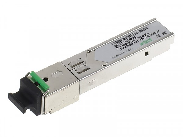 Moduł SFP 1x 1000 Mbps SC SM, 20 km, WDM TX:1550nm (Wave Optics, WO-SWS-1215-020K)