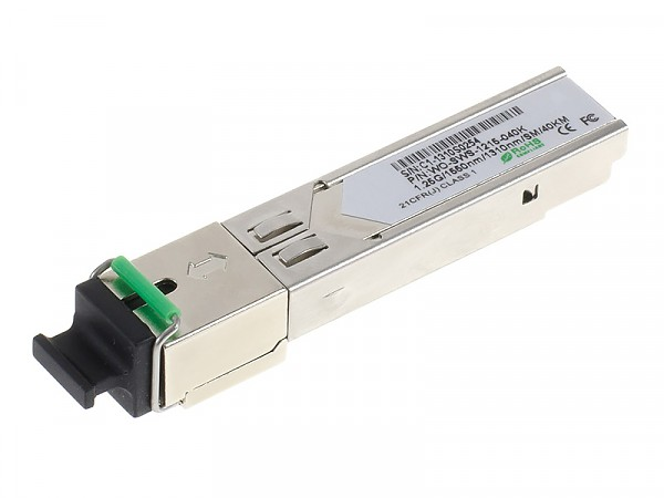 Moduł SFP 1x 1000 Mbps SC SM, 40 km, WDM TX:1550nm (Wave Optics, WO-SWS-1215-040K)