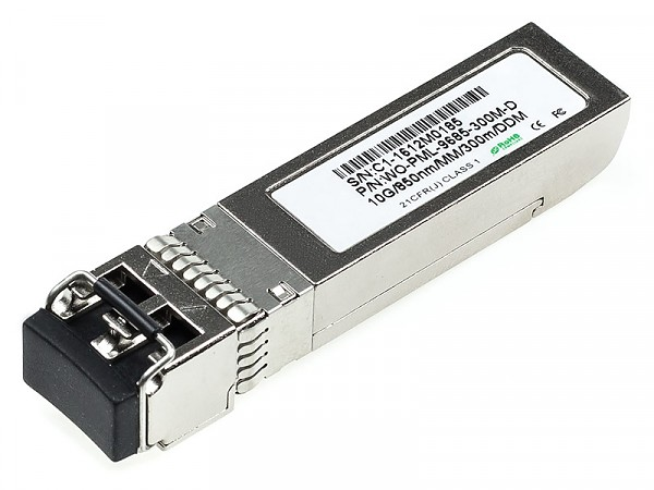 Moduł SFP+ 1x 10 Gbps LC MM, 300 m, TX:850nm, DDMI (Wave Optics, WO-PML-9685-300M-D)