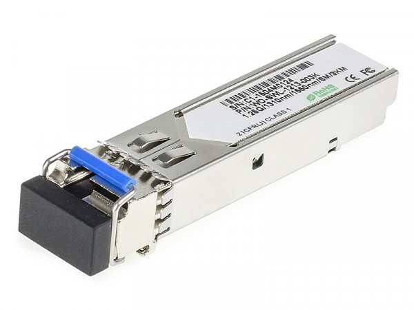 Moduł SFP 1x 1000 Mbps LC SM, 3km, WDM TX:1310nm (Wave Optics, WO-SWL-1213-003K)