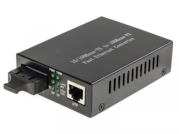 Konwerter 10/100 Mbps RJ-45/SC, MM 1310nm, 2km, LFP (Wave Optics, WO-KA-MDS-002K)