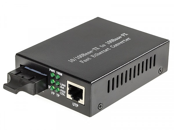 Konwerter 10/100 Mbps RJ-45/SC, SM 1310nm, 20km, LFP (Wave Optics, WO-KA-SDS-020K)