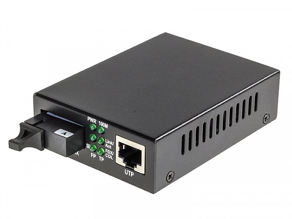 Konwerter 10/100/1000 Mbps RJ-45/SC, SM 1310nm, 20km, WDM (Wave Optics, WO-KB-SWS-020K-A)