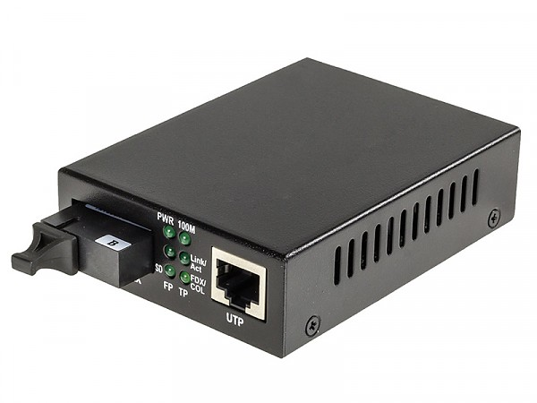 Konwerter 10/100/1000 Mbps RJ-45/SC, SM 1550nm, 20km, WDM (Wave Optics, WO-KB-SWS-020K-B)