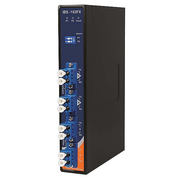 IBS-102FX-MM-LC, Bypass Switch, DIN, 4x LC Duplex