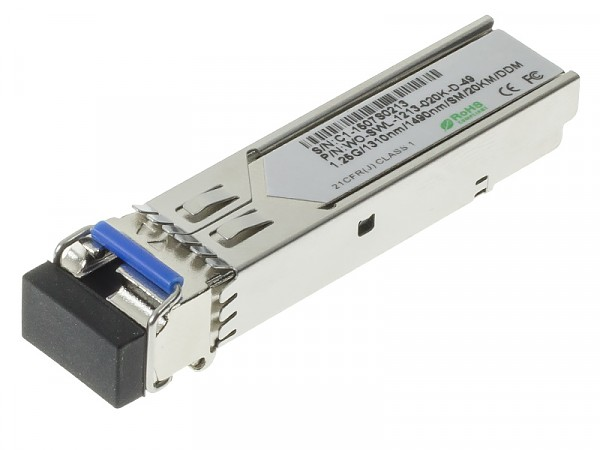 Moduł SFP 1x 1000 Mbps LC SM, 20 km, WDM TX:1310nm (Wave Optics, WO-SWL-1213-020K-D-49)