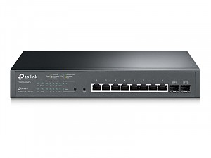 TP-Link T1500G-10MPS, Switch gigabitowy, inteligentny, 8x 1Gb RJ-45, 2x slot SFP, PoE+, 19""